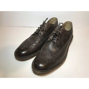 Frye James Wingtip Oxfords Brown Leather Mens 13D